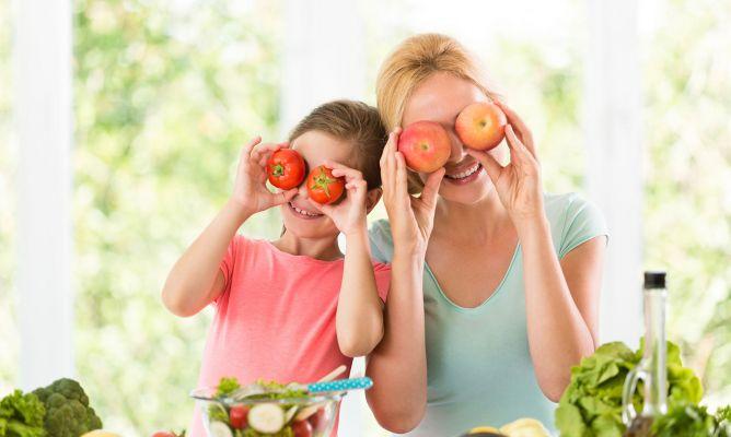 alimentación correcta para la visión